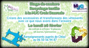 Stage couture MJC Croix-Daurade