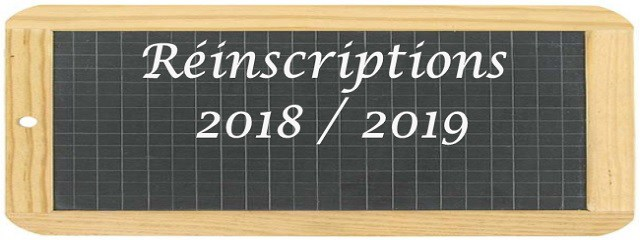 Réinscriptions-2018-2019